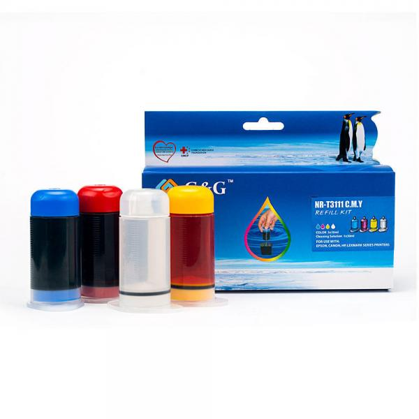 Kit Refill Cerneala pentru HP, Canon, Epson, Brother, Dell, Sharp, Okidata, Compaq, Xerox - Universal, Tricolor 0