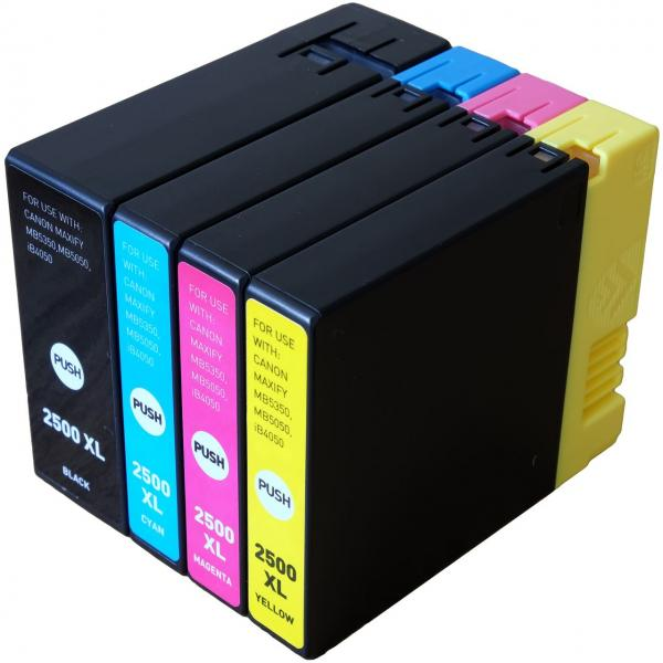 Set 4 cartuse cerneala compatibile cu Canon PGI - 2500 XL - (Black + Cyan + Magenta + Yellow)